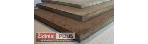 Termo akumuliacinės plokštės židinio montavimui